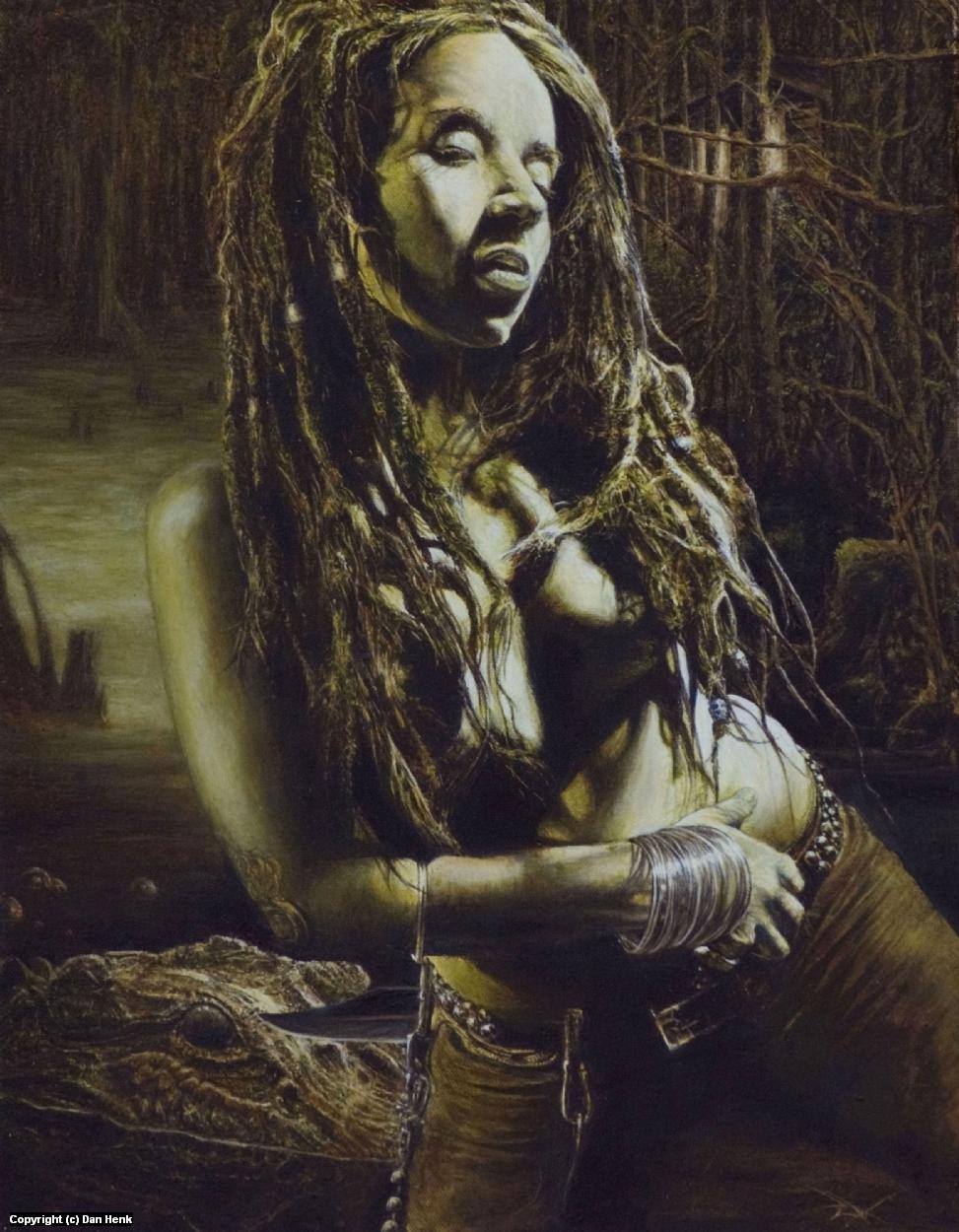 Nighfall on the Bayou Artwork by Dan Henk