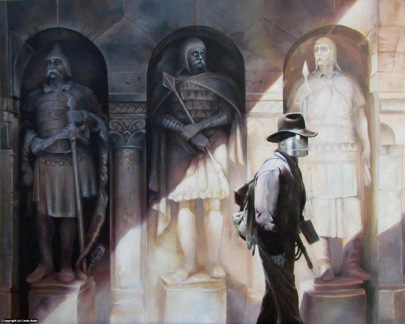 The Walls Have Eyes Artwork by Linda Adair