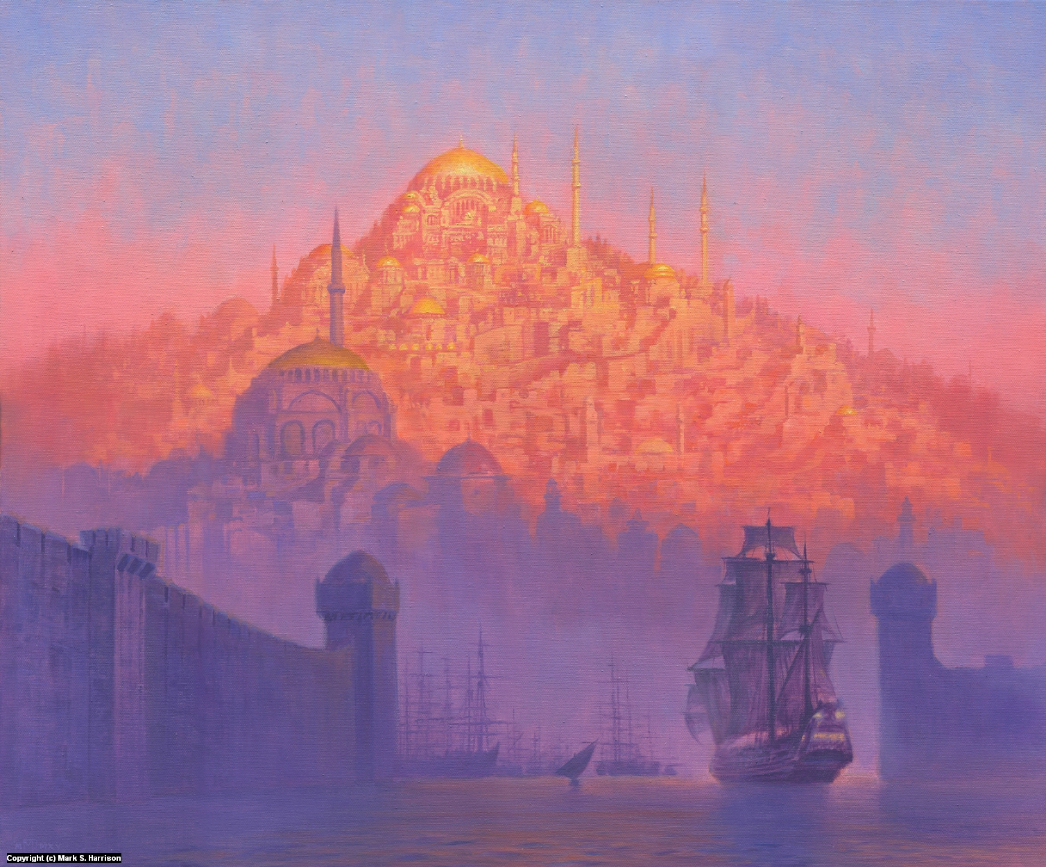 Sailing Into Byzantium Artwork by Mark Harrison
