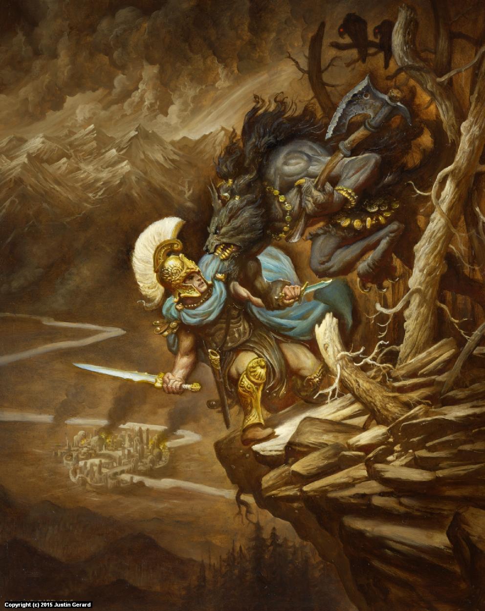 The Silmarillion no. 34 Artwork by Justin Gerard