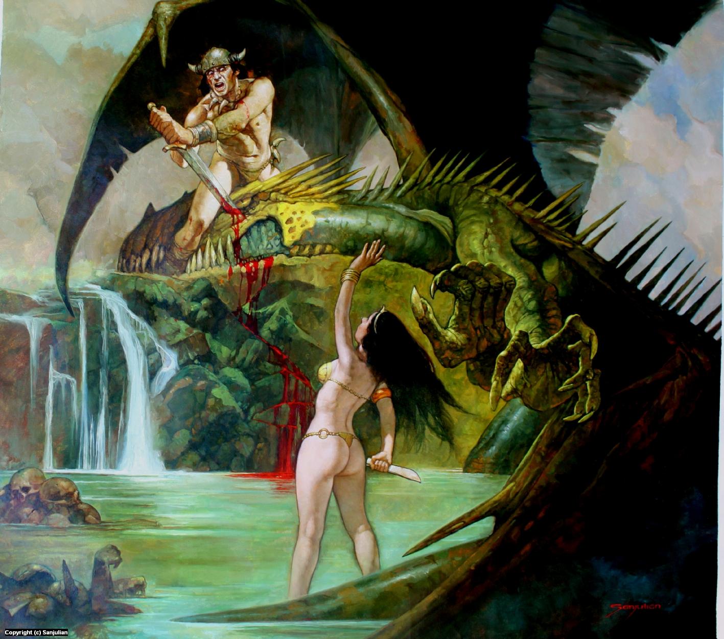 Dragon Queen Artwork by Manuel Sanjulian
