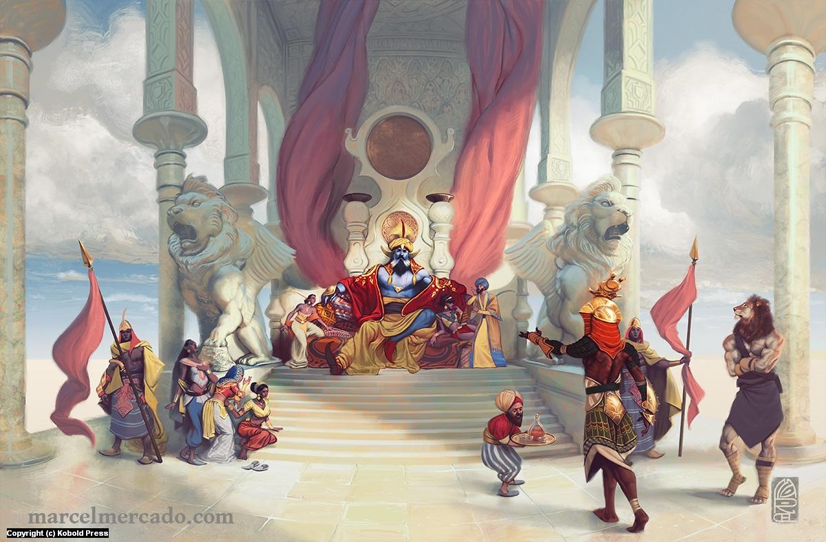 Wind Djinn's Court Artwork by Marcel Mercado