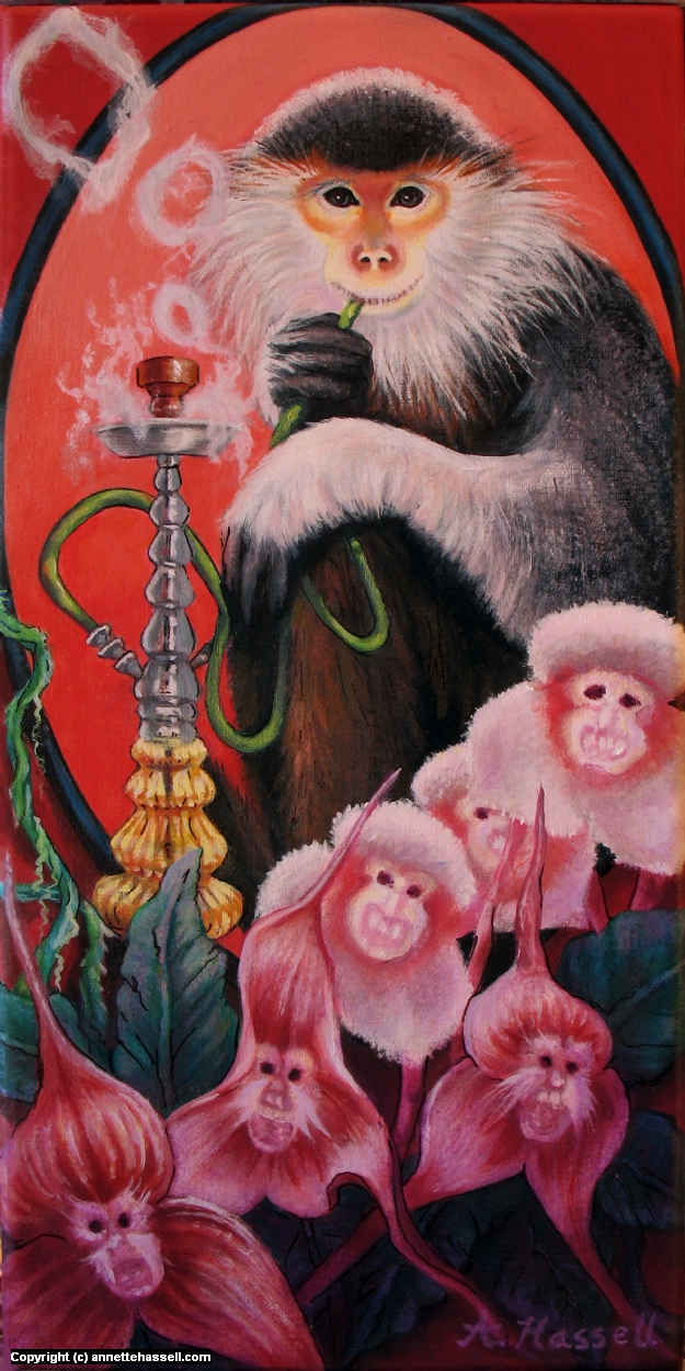The Monkey's Orchids Artwork by Annette Hassell