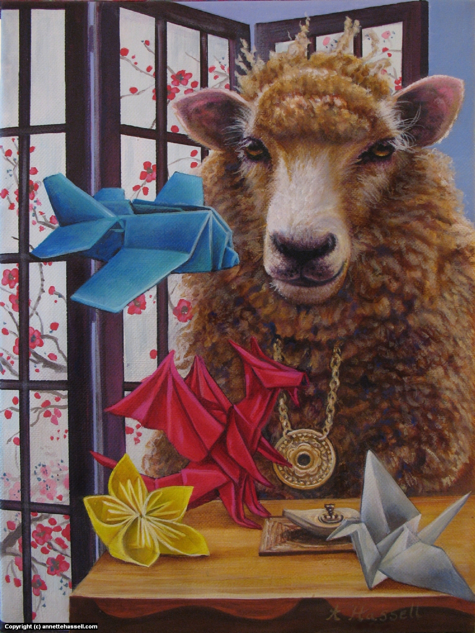 Sheep Artwork by Annette Hassell