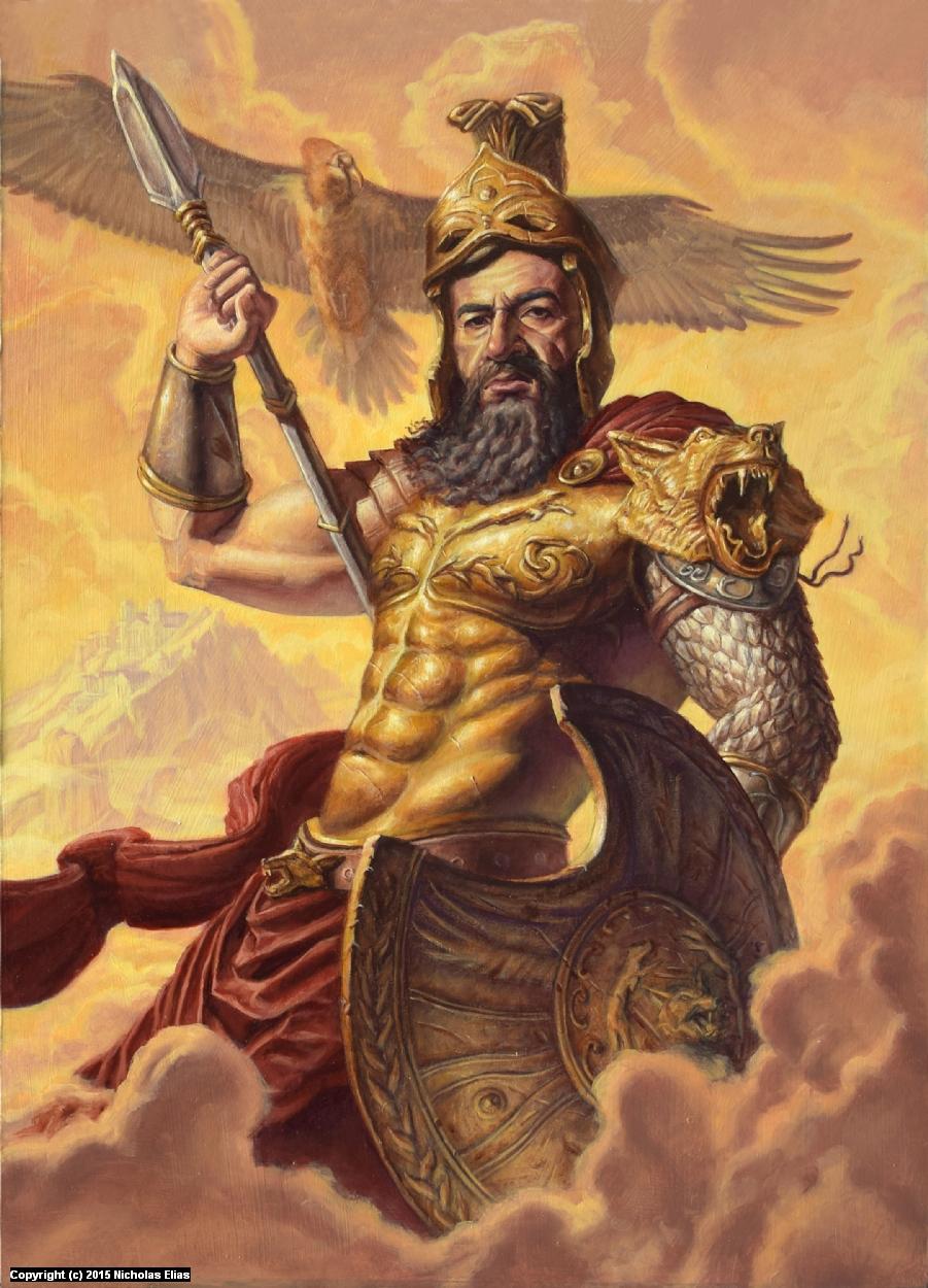 Ares, God of War Artwork by Nicholas Elias