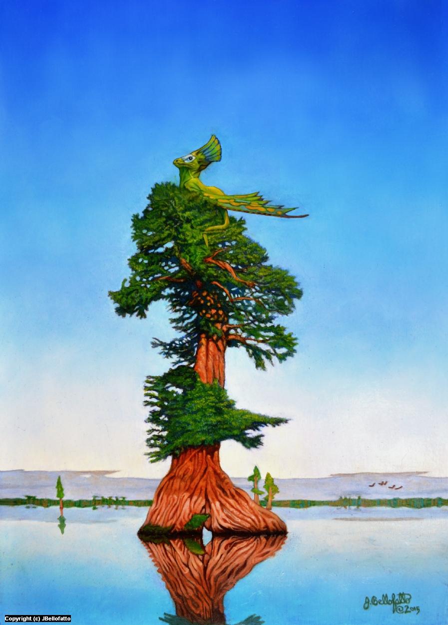 Swamp Dragon Artwork by Joseph Bellofatto