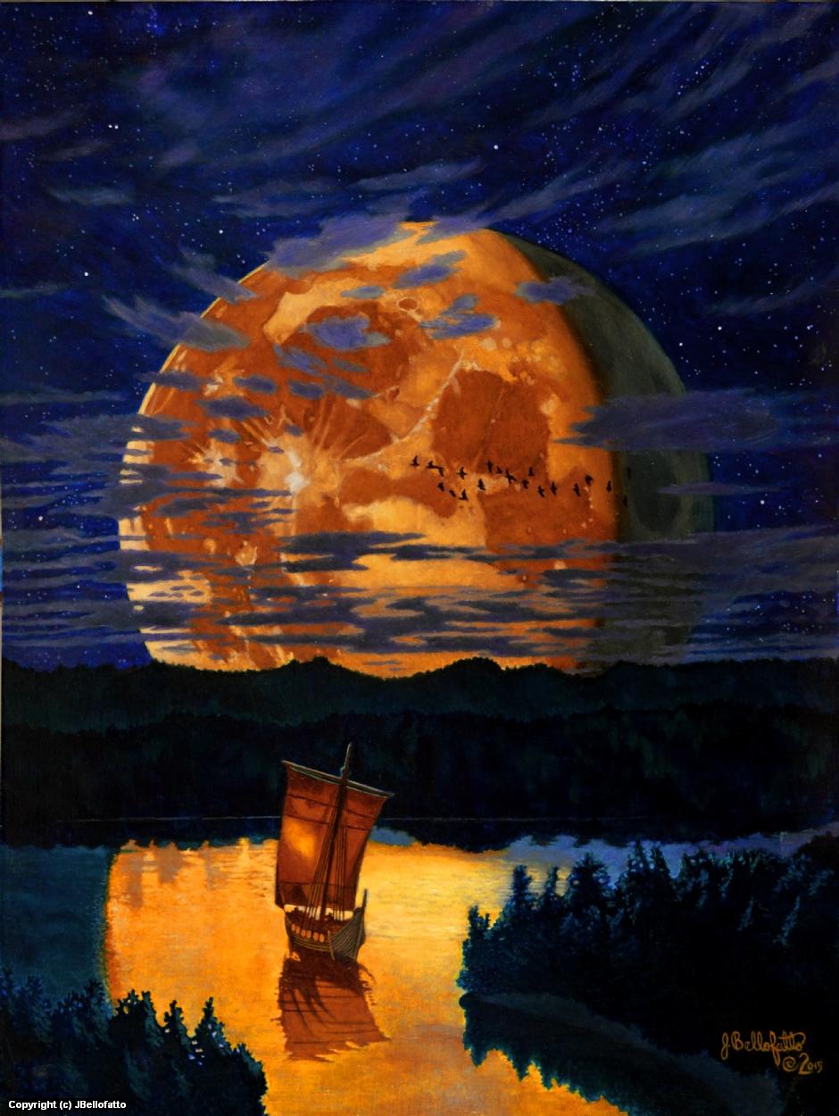 Lunar Sails Artwork by Joseph Bellofatto