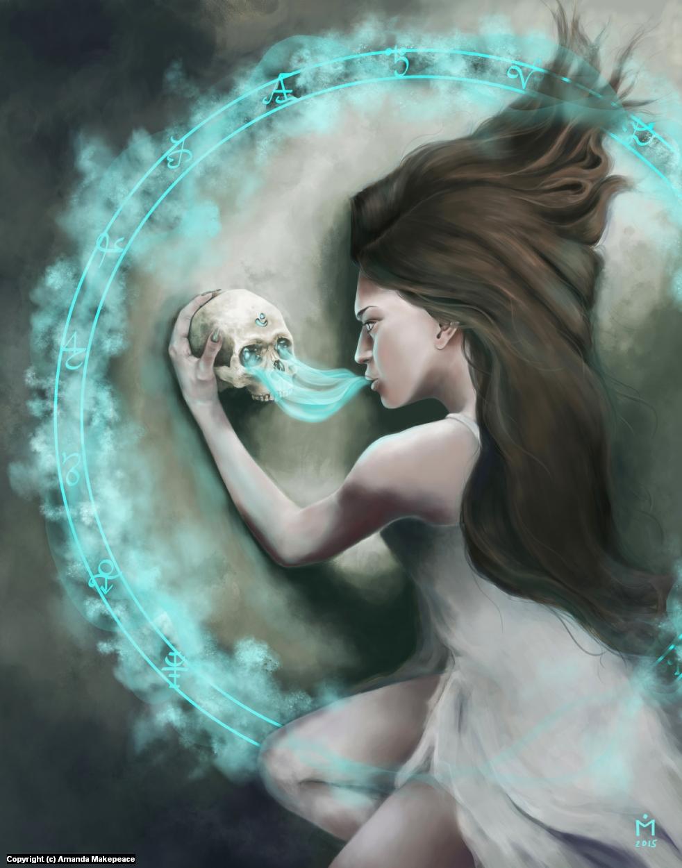 The Bone Oracle Artwork by Amanda Makepeace