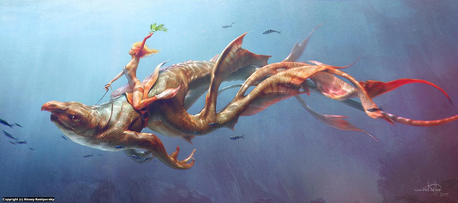 Atlantis Herald Artwork by Alexey Kashpersky