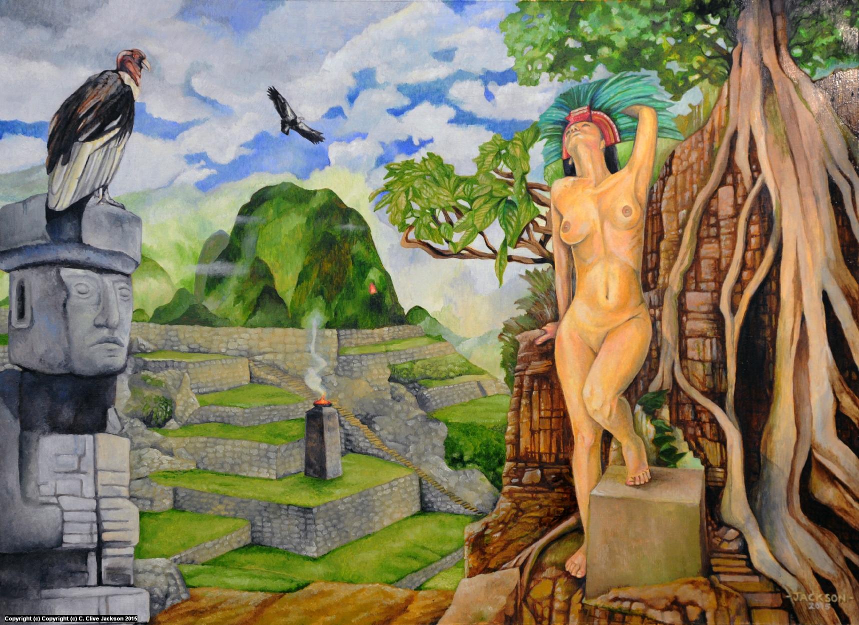 Incan Priestess Artwork by Colin Clive Jackson