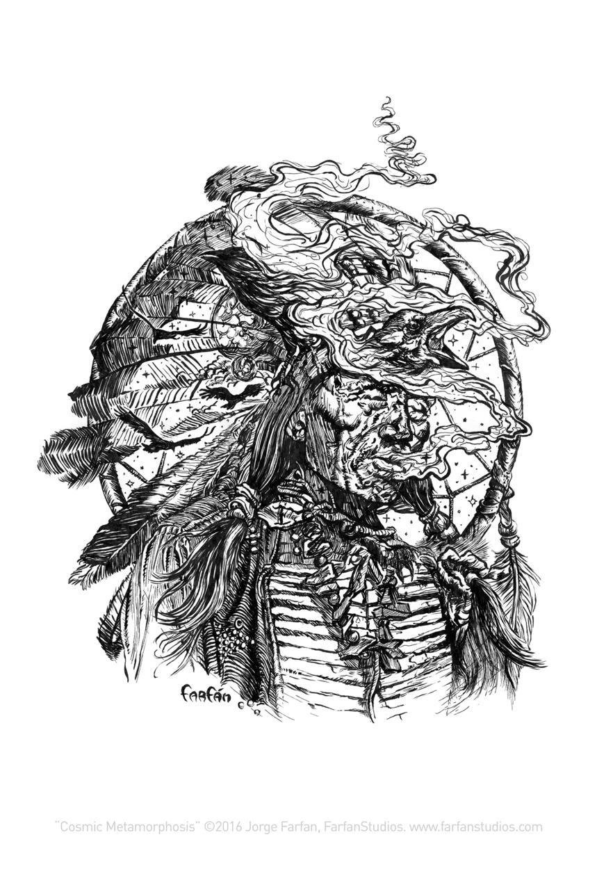 Cosmic Metamorphosis Artwork by Jorge Farfan
