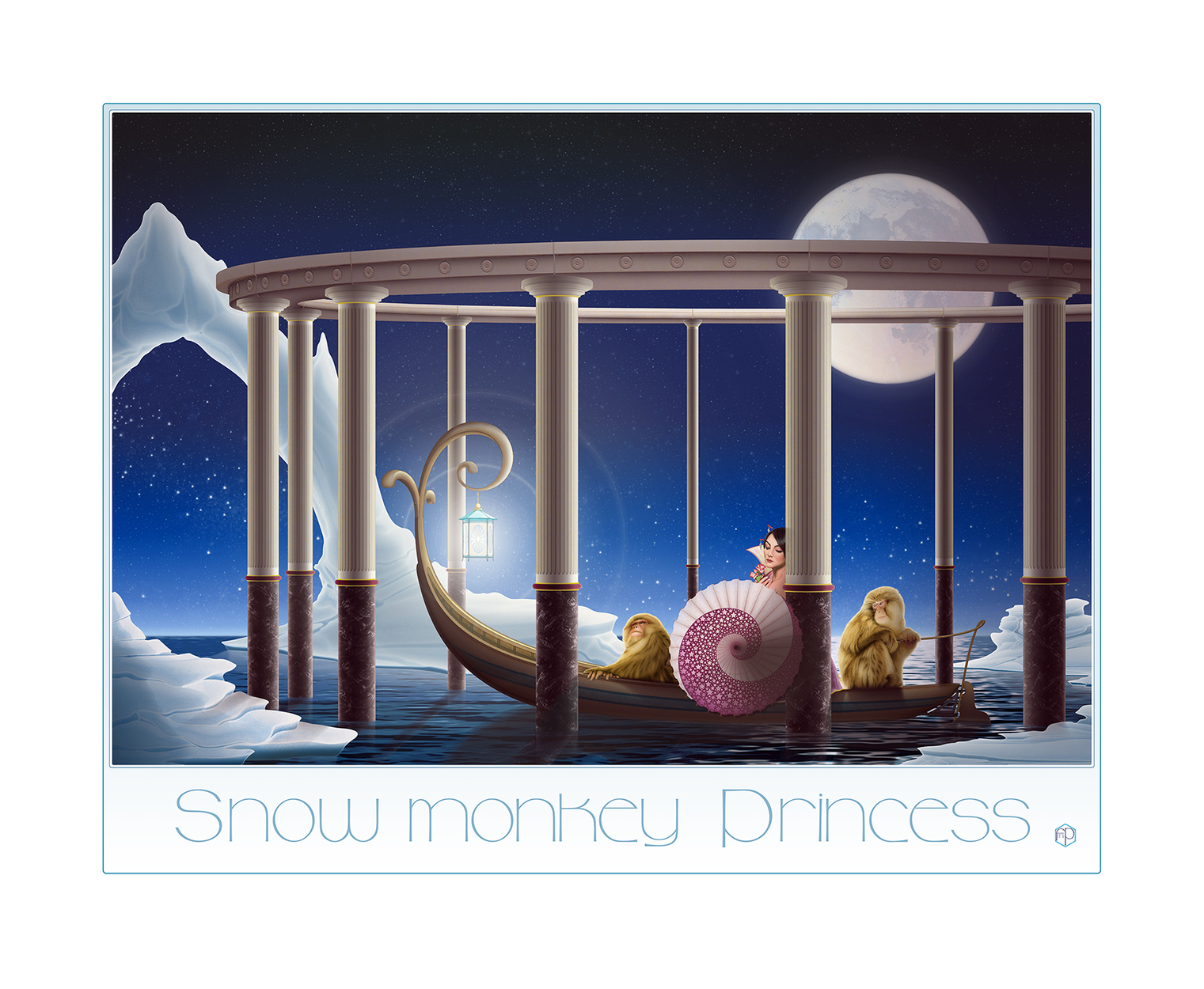 Snow Monkey Princess Artwork by Frederick Powell