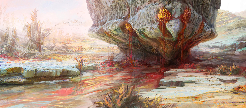 Bloodrock Beach Artwork by Kirsten Zirngibl