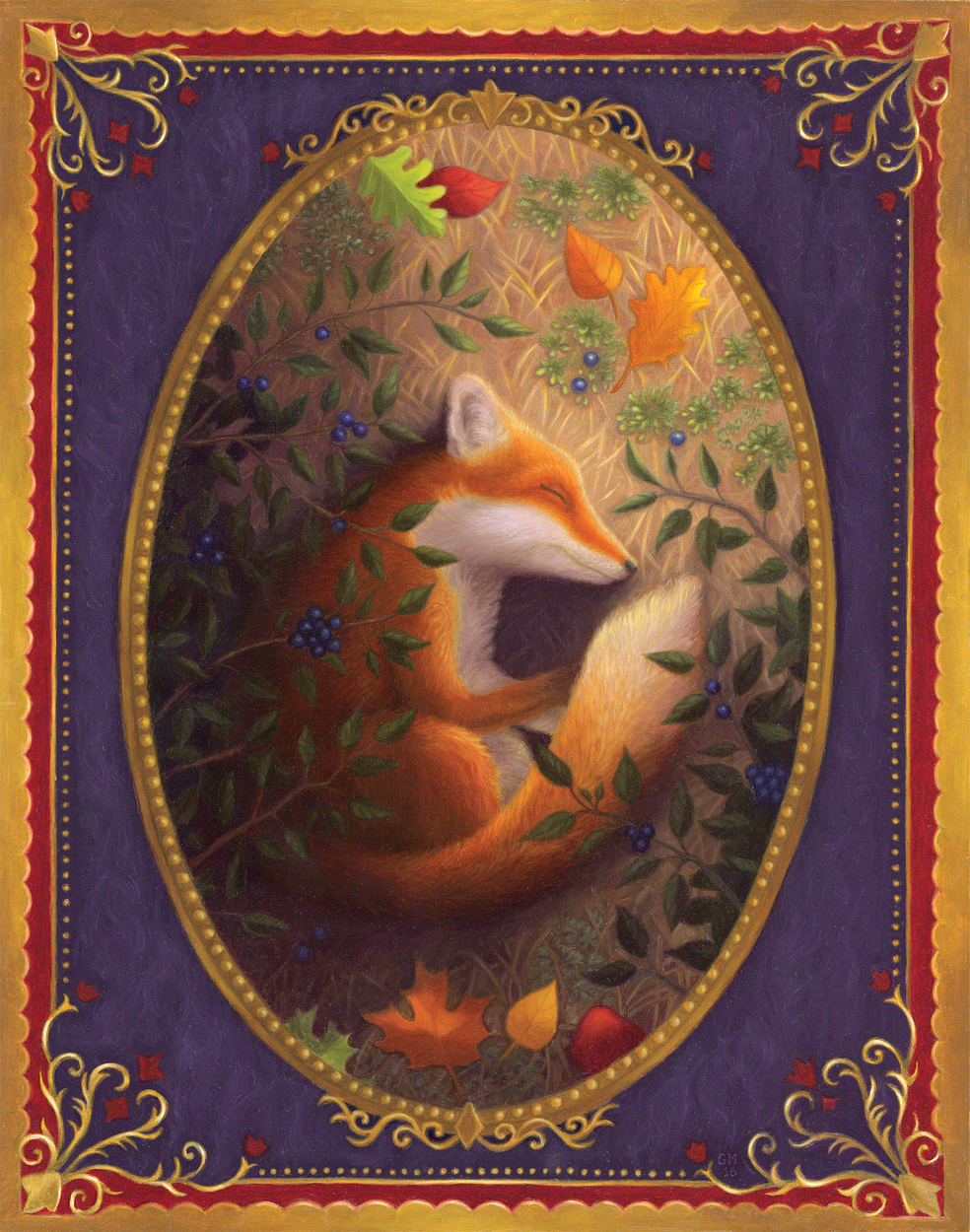 Sleeping Fox Artwork by Gina Matarazzo