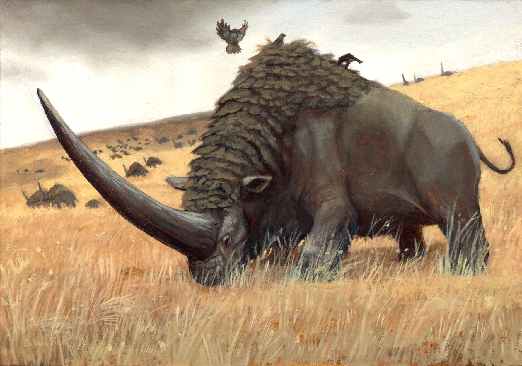 Elasmotherium Artwork by Owen Weber