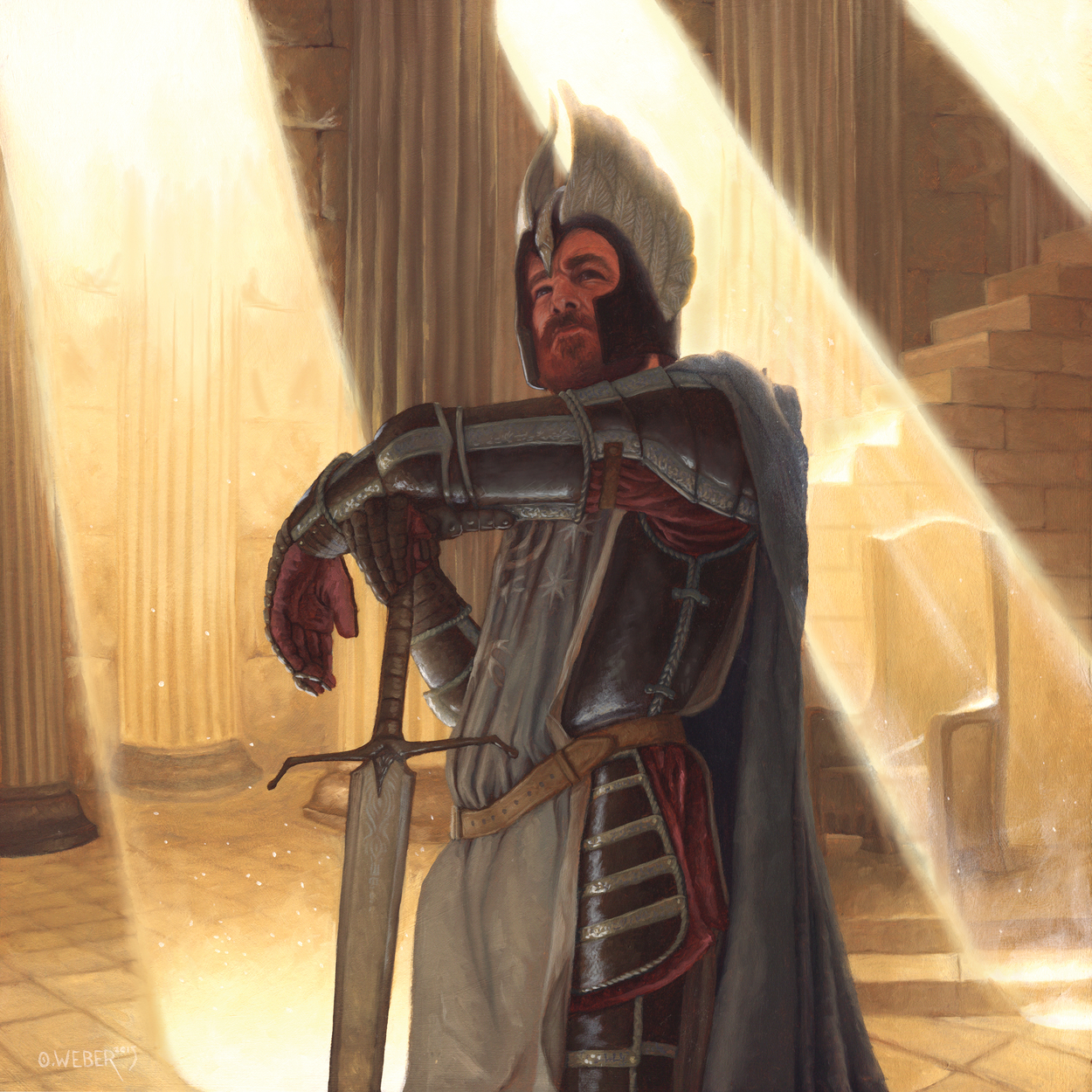 Knight of the White Tower Artwork by Owen Weber