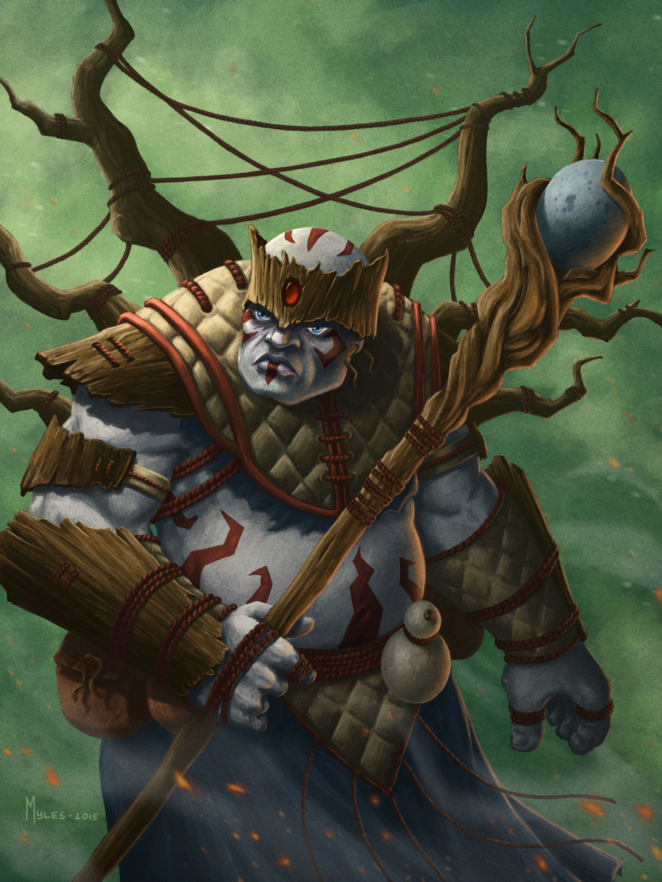 Shaman of the Wood Artwork by Myles Wohl