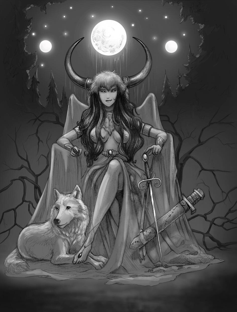 Luna, Warrior Queen Artwork by Susan Shorter