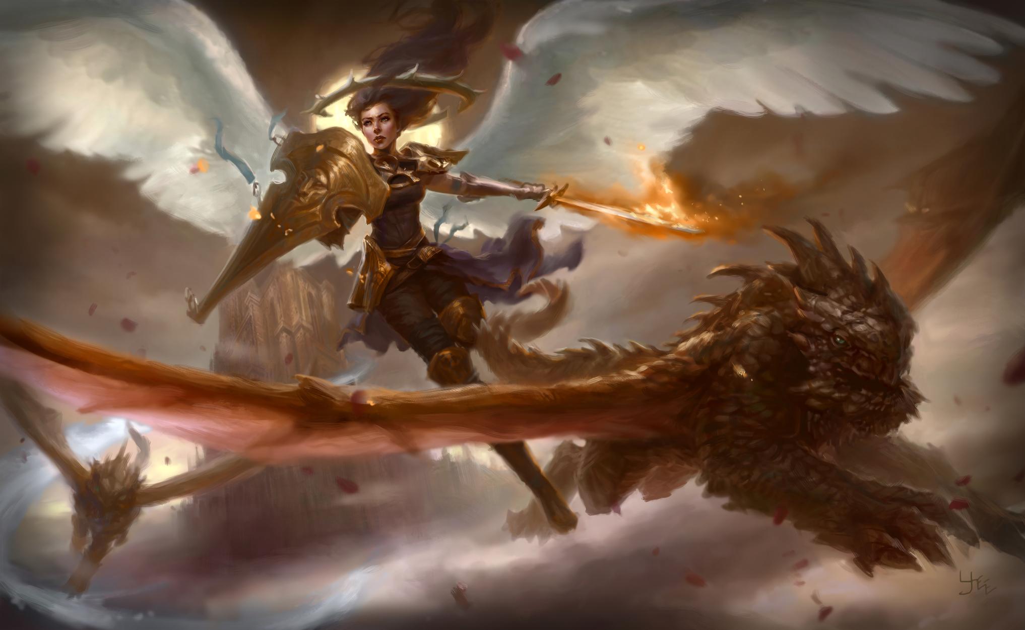 Angel Protector Artwork by Ryan Yee