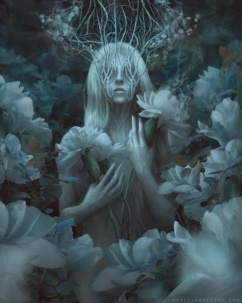 White Crown Artwork by Marcela Bolivar