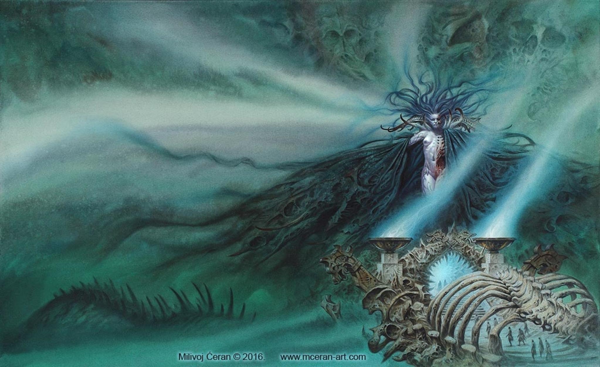 Nifelheim and Hel Artwork by Milivoj Ceran