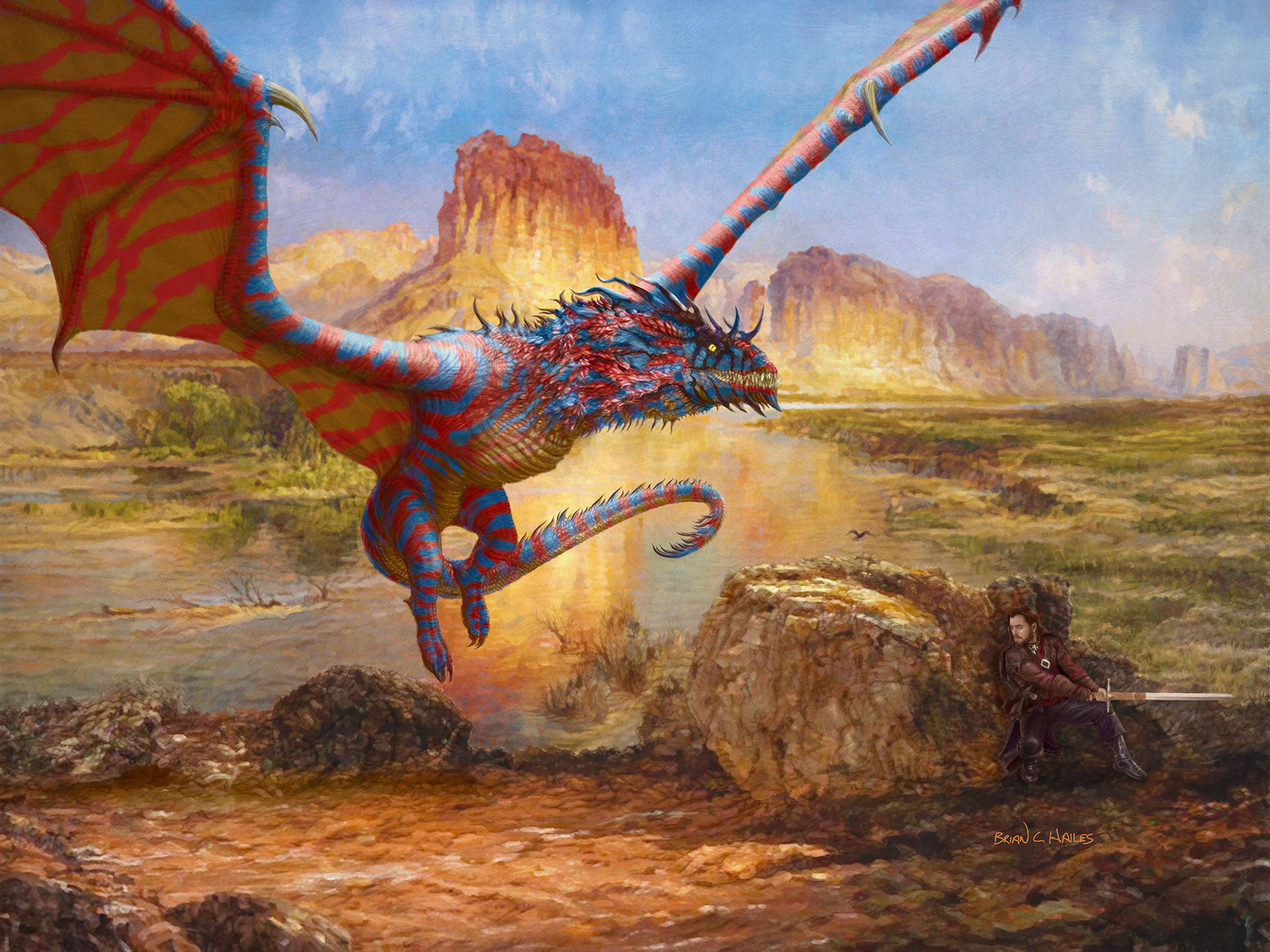 Desert Dragon Artwork by Brian C. Hailes