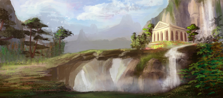 Greeksia Temple Artwork by Michi Doan