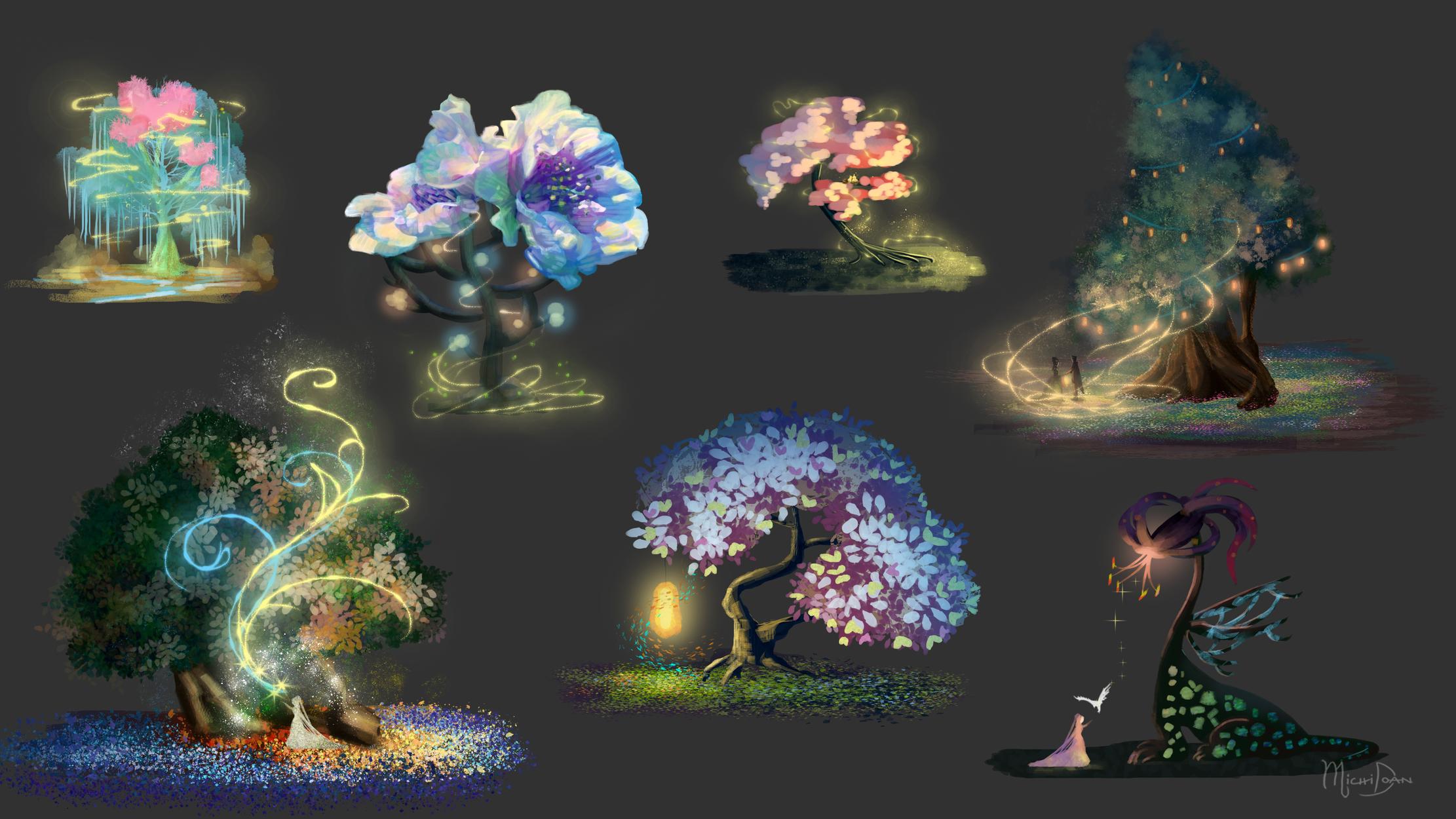 Enchantsia Magic Trees Artwork by Michi Doan