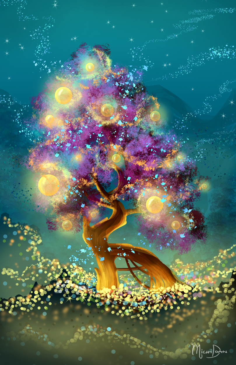 Golden Lights Artwork by Michi Doan
