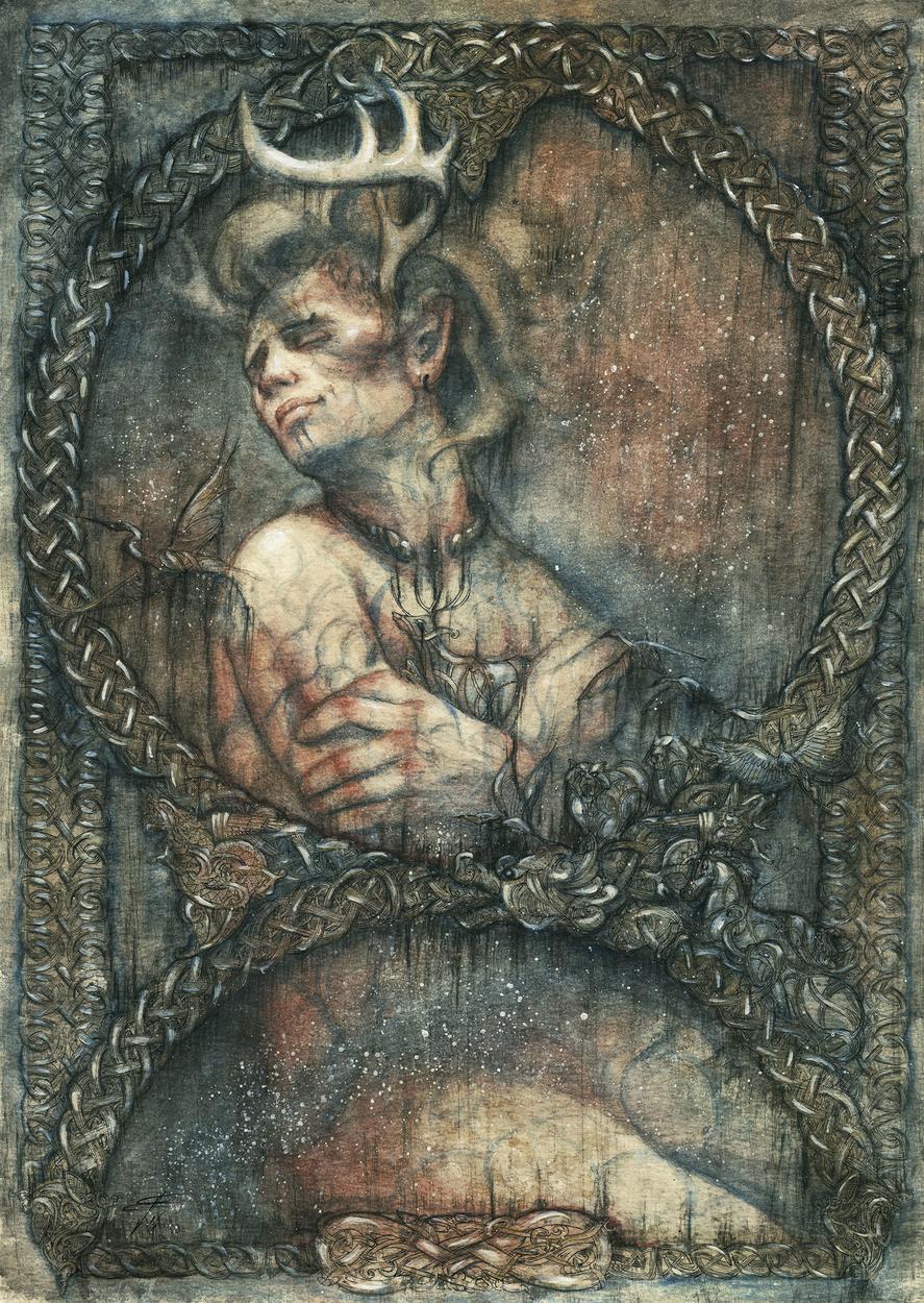Cernunnos Artwork by Francesca Baerald
