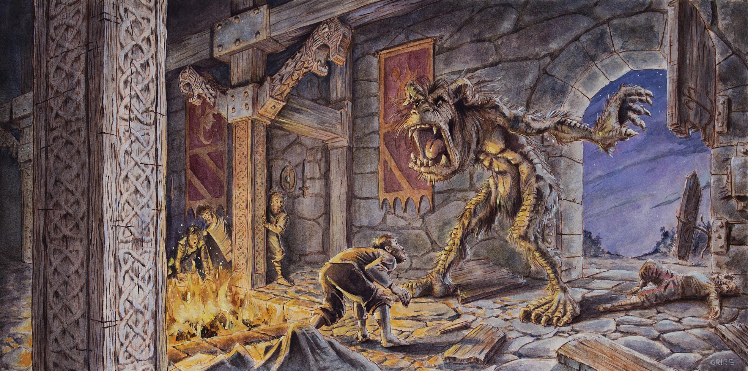 Grendel Artwork by Chuck Grieb