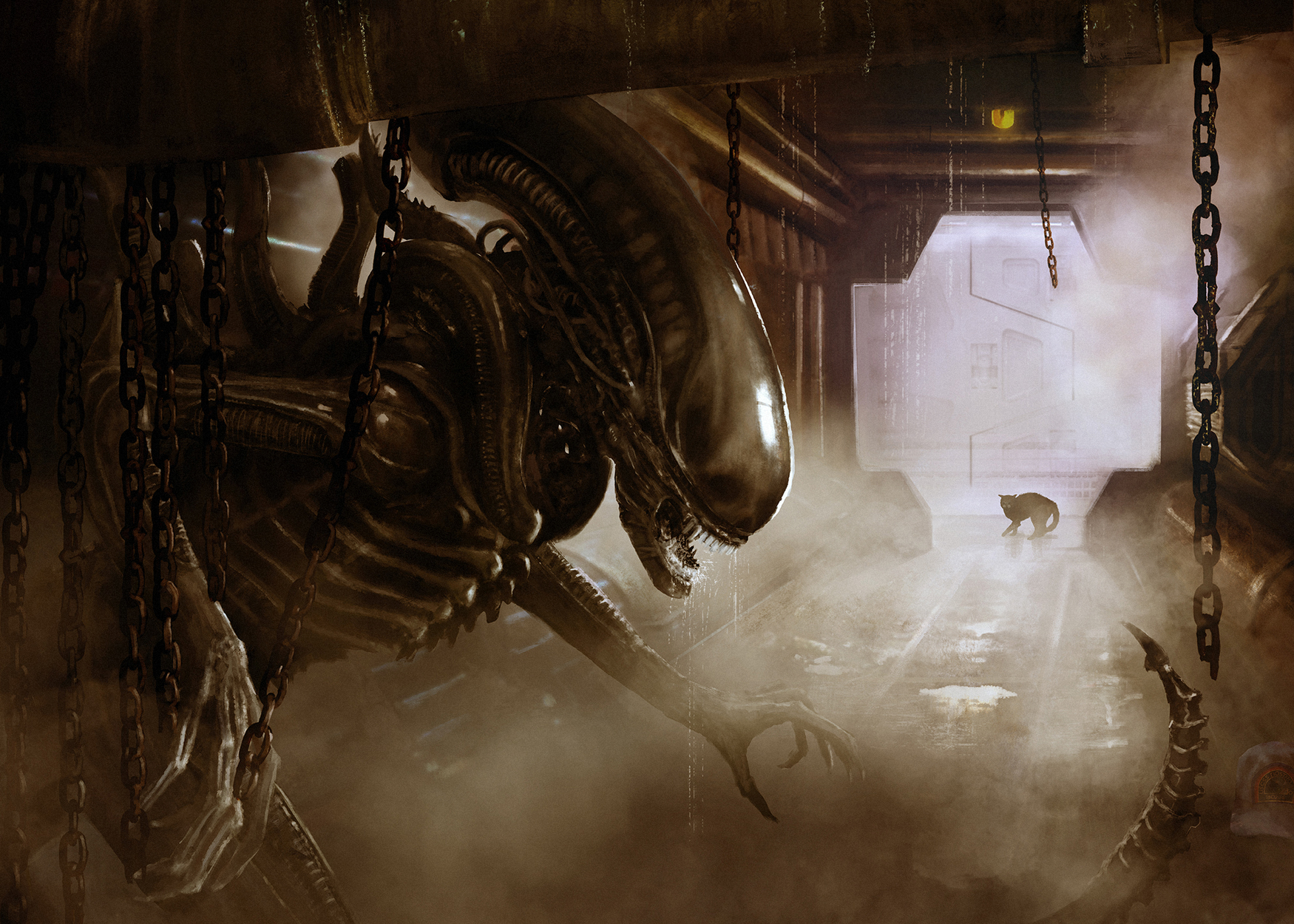 Big Chap Alien Artwork by Camille Alquier