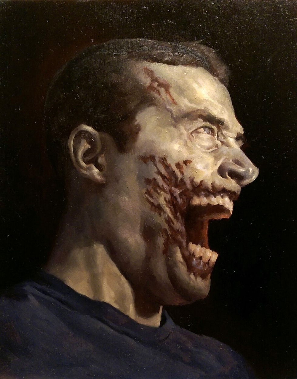 Zombie Self Portrait Artwork by Matt Smith