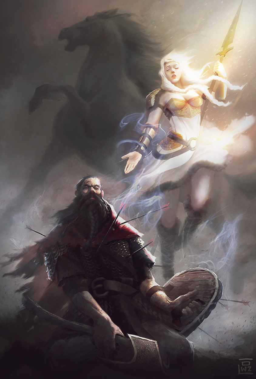 Ascension to Valhalla Artwork by Ricardo Ow
