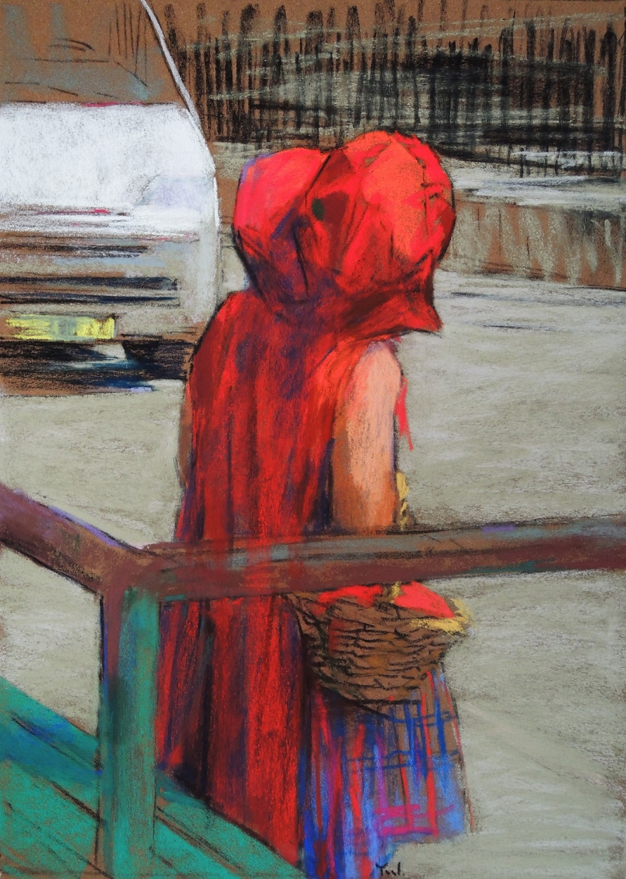 Little Red Riding Hood in the City Artwork by Yael Maimon