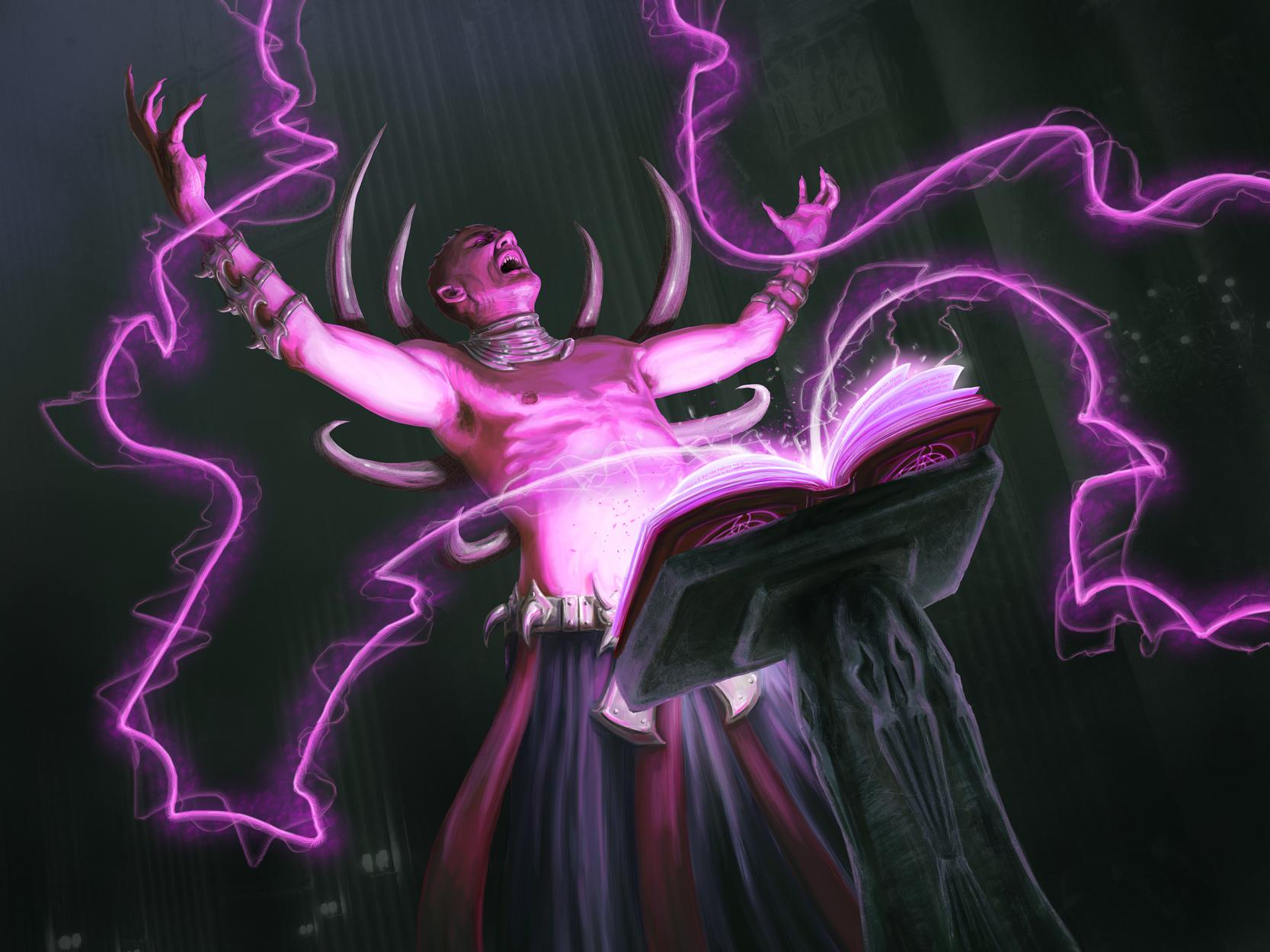 Dark Priest Artwork by Elissa  Weaver