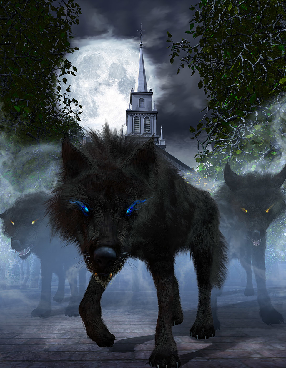 Black Wolves of Boston Artwork by Kurt Miller