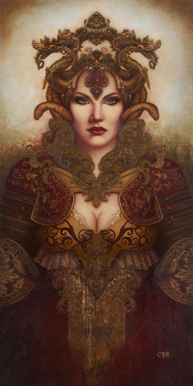 The Warrior Artwork by Lisa L. Cyr