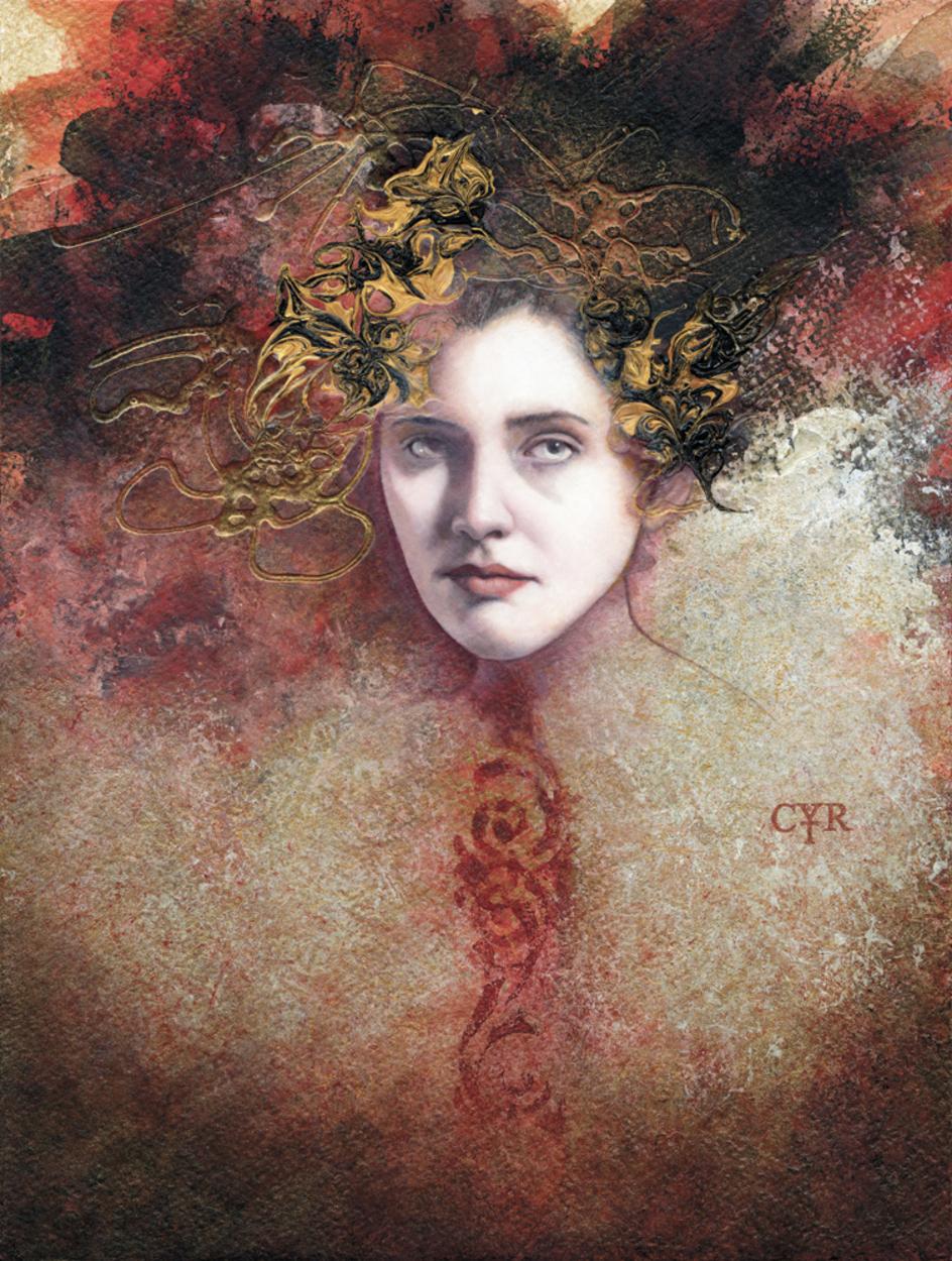 Mademoiselle du Carnaval Artwork by Lisa L. Cyr