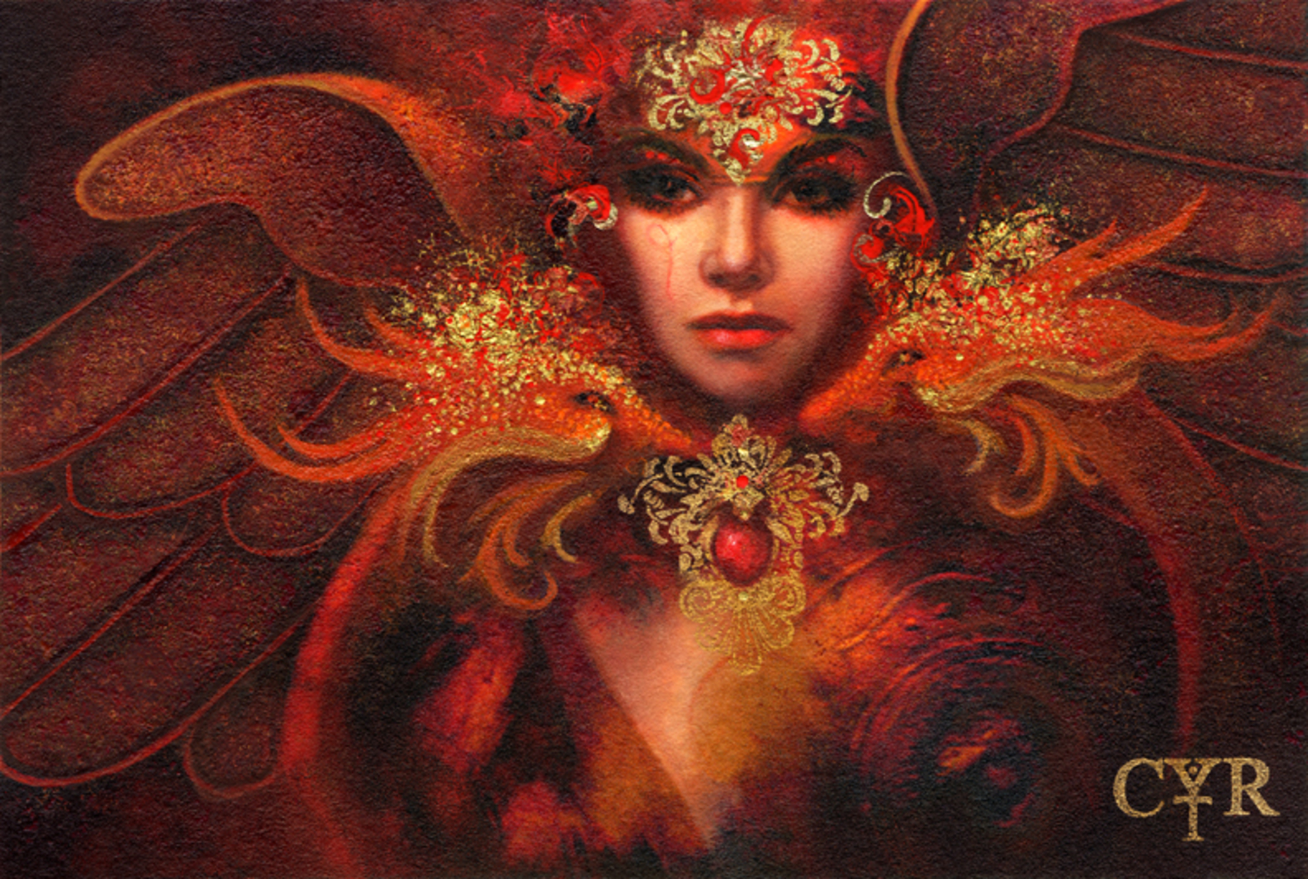 Through the Fire Artwork by Lisa L. Cyr