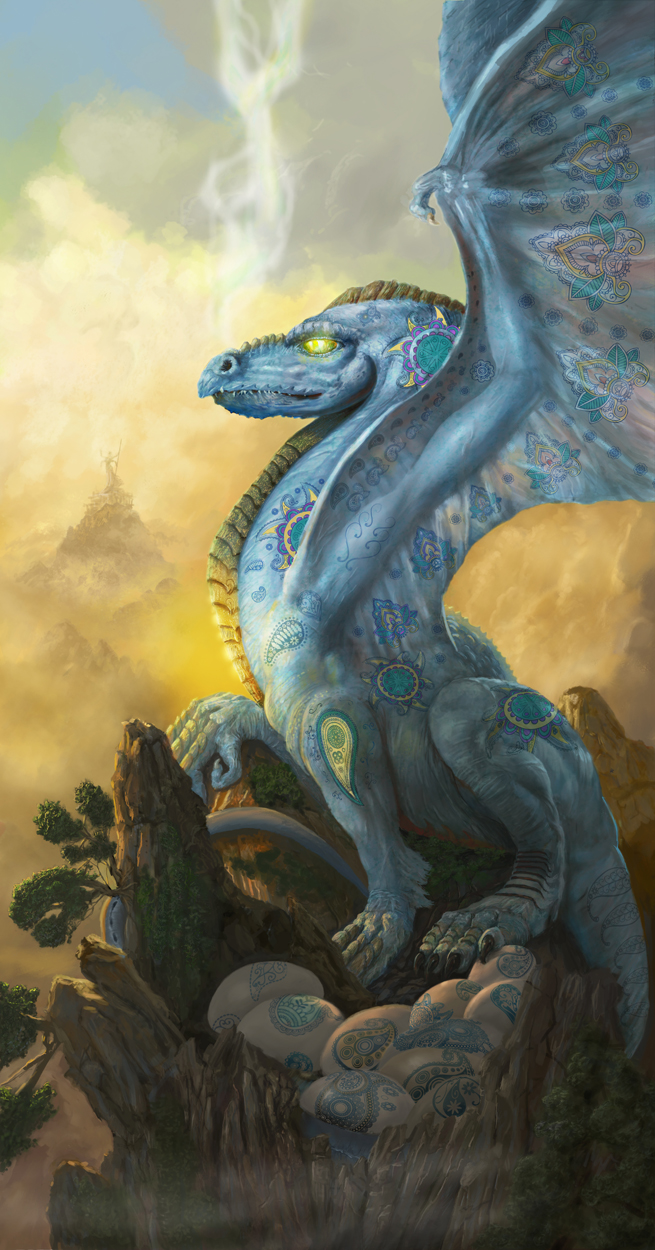The Paisley Dragon Artwork by Jim Zaccaria