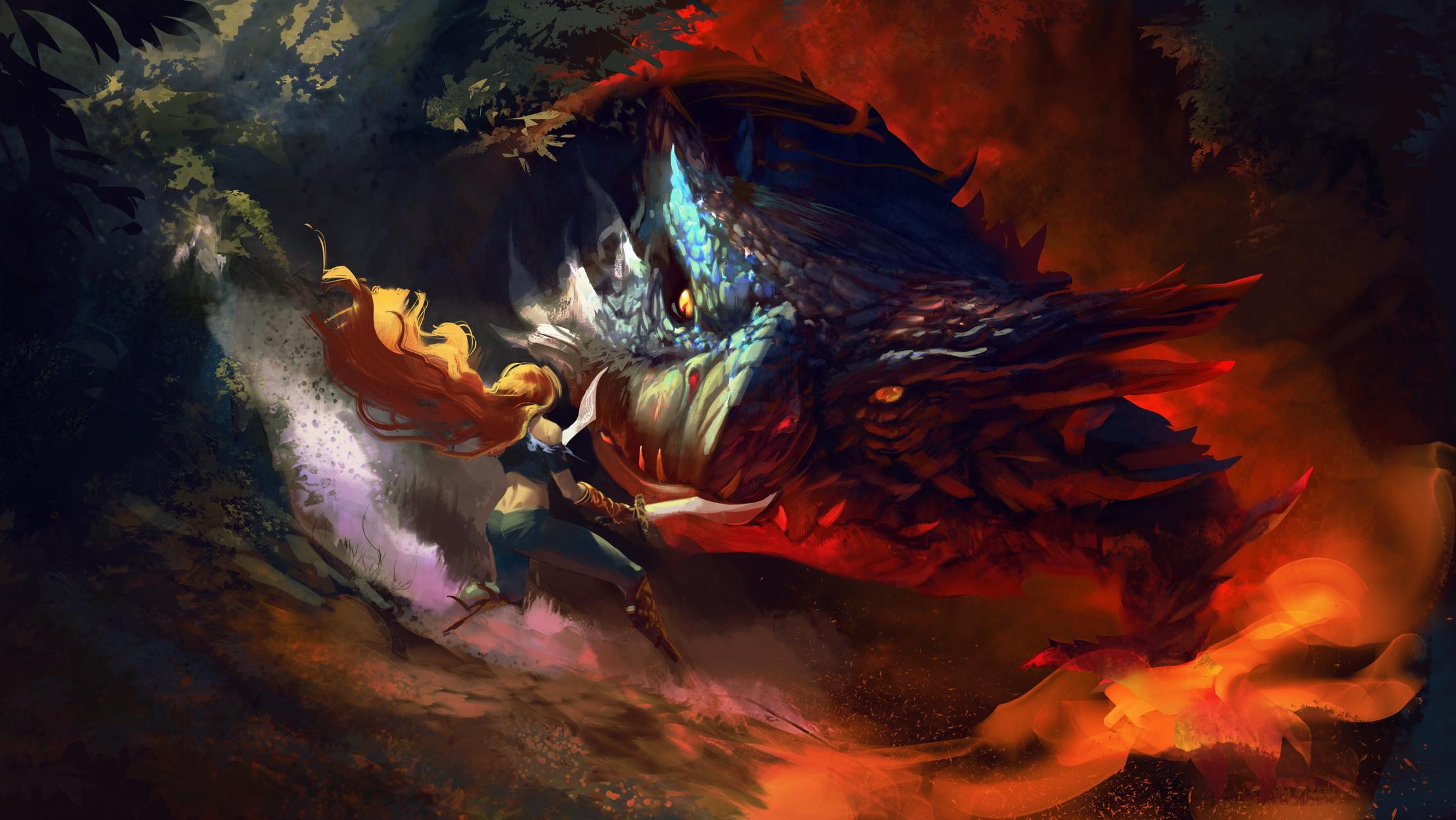 Face the Dragon Artwork by Dalton Muniz