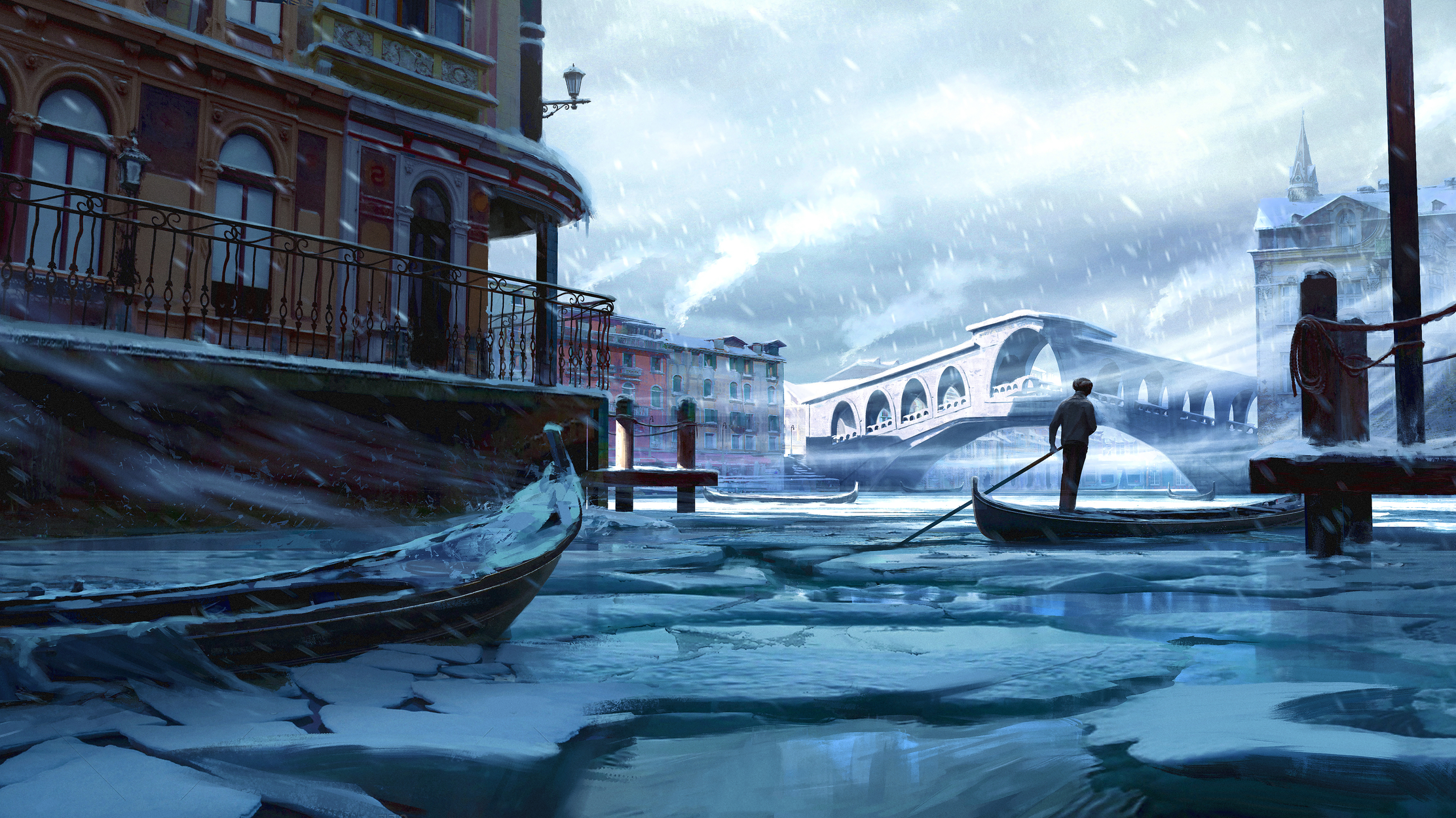 Venetian Winter Artwork by Ryan Richmond