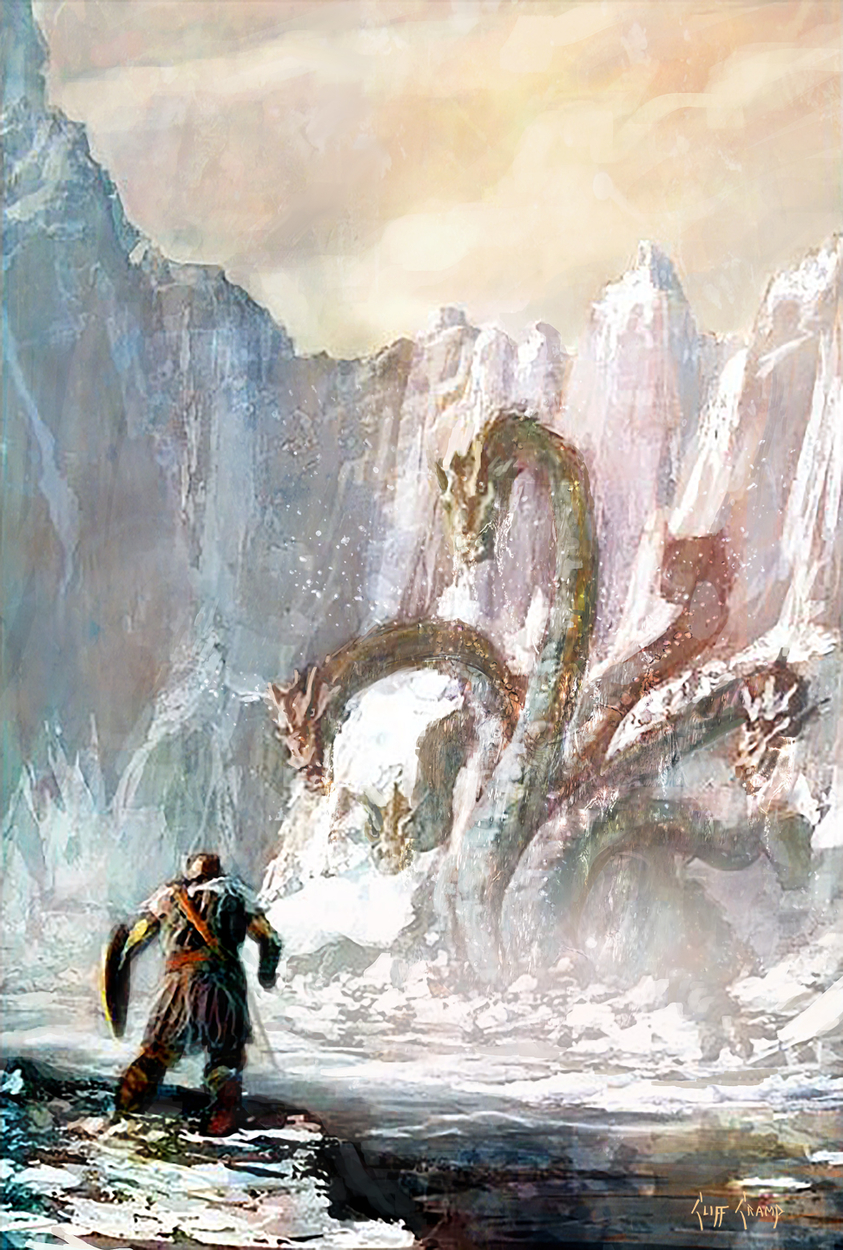Battling The Hydra Artwork by Cliff Cramp