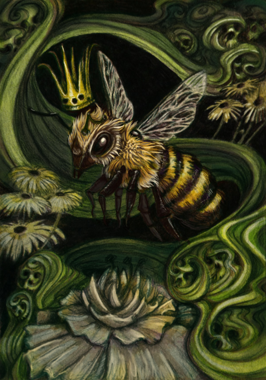 Queen Bee Artwork by Rachel Quinlan