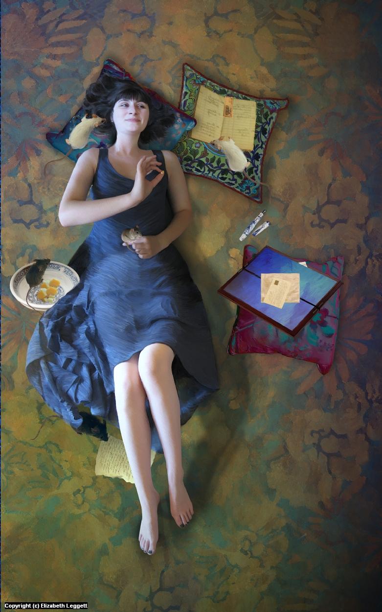 The Secret Broker Artwork by Elizabeth Leggett
