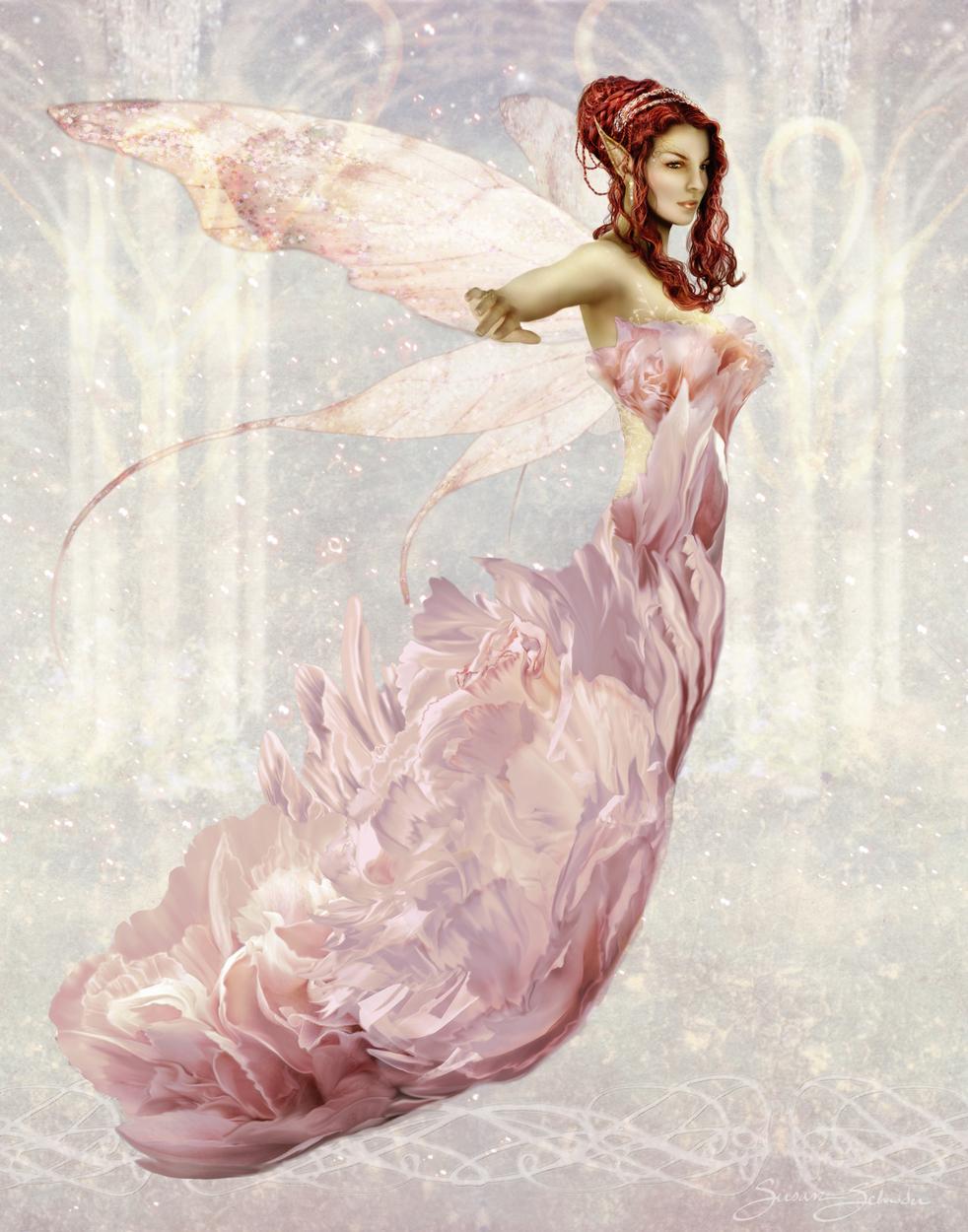 Faerie Queen Peony Artwork by Susan Schroder