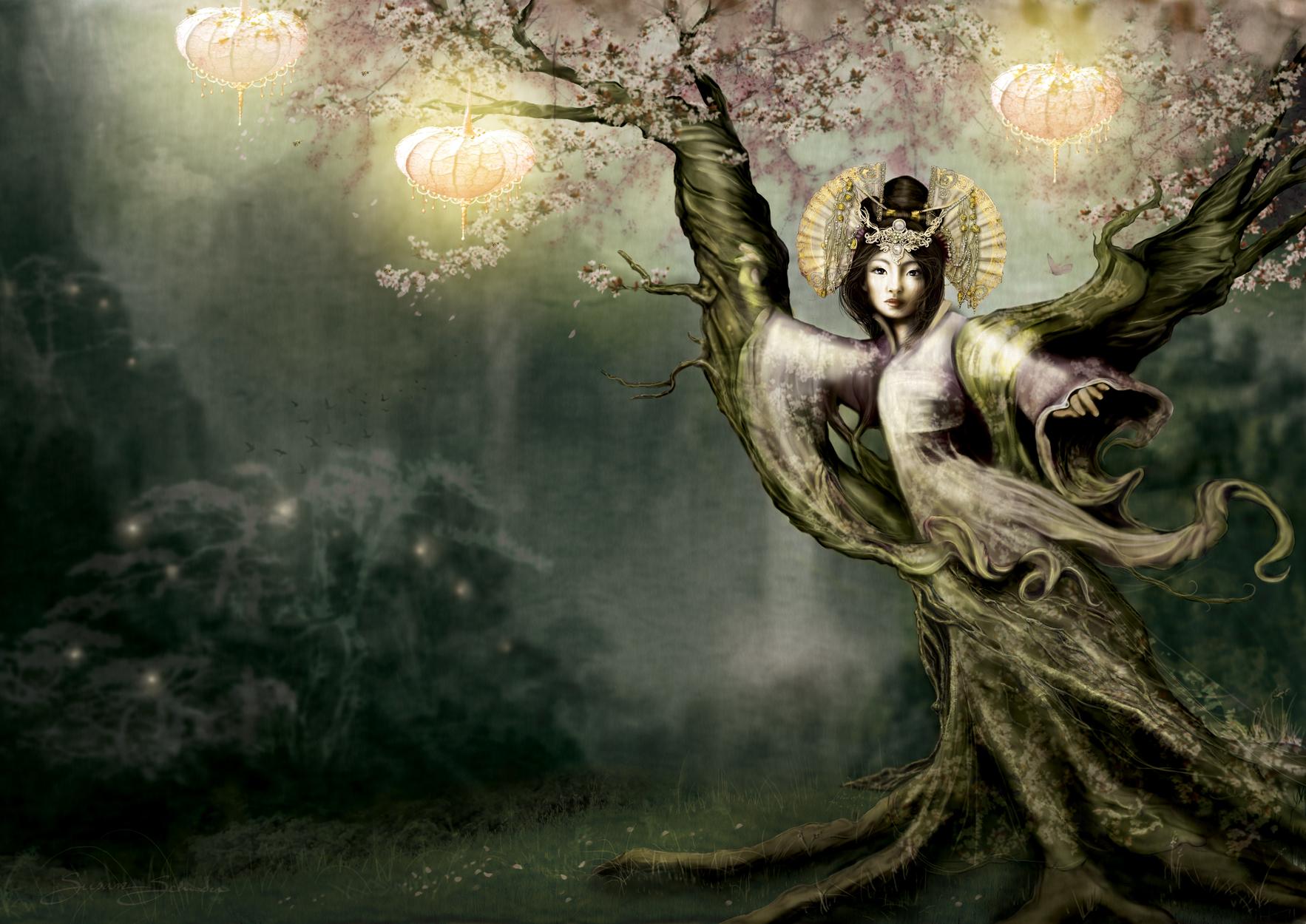 Sakura Artwork by Susan Schroder