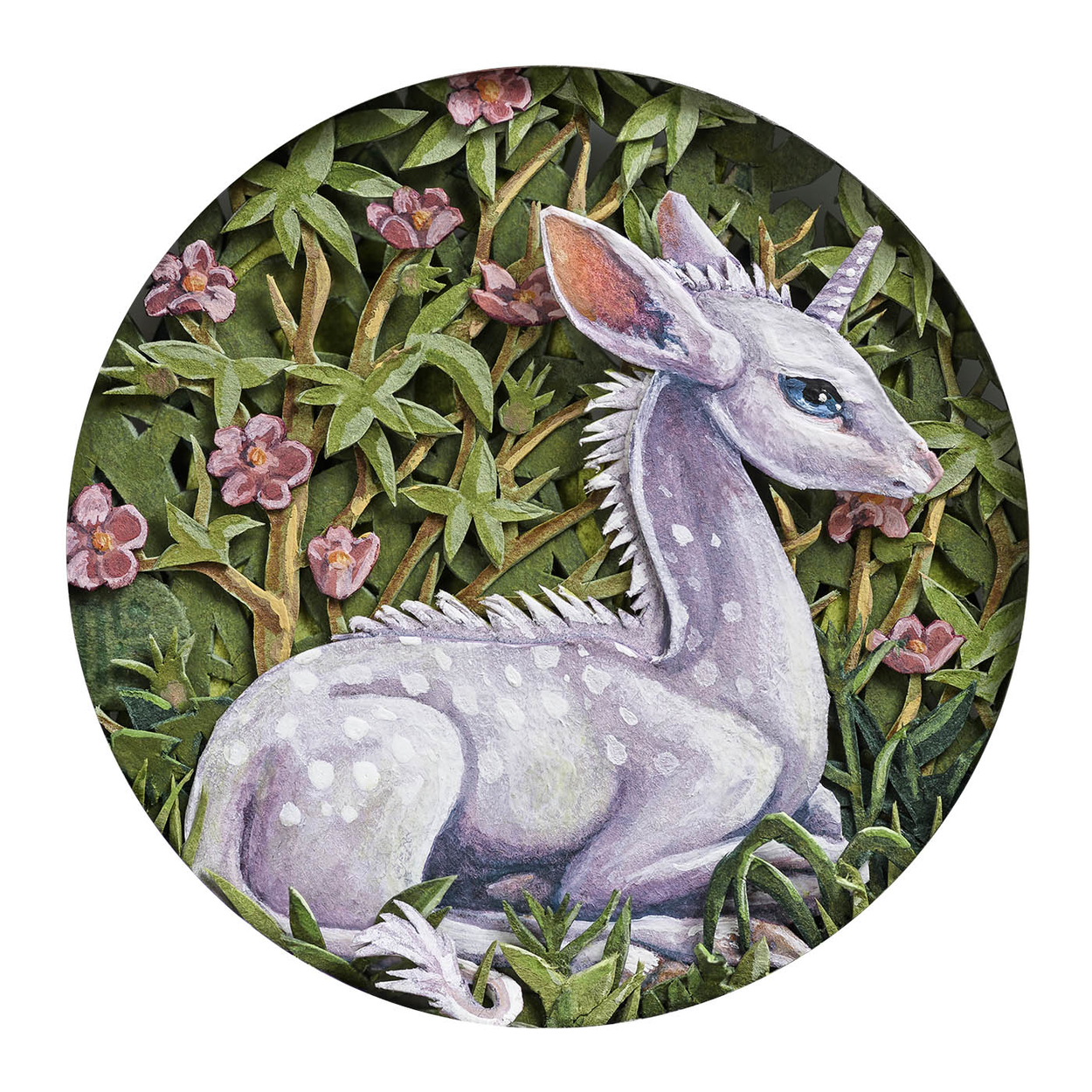 Unicorn Miniature Painting Artwork by Nicole Grosjean