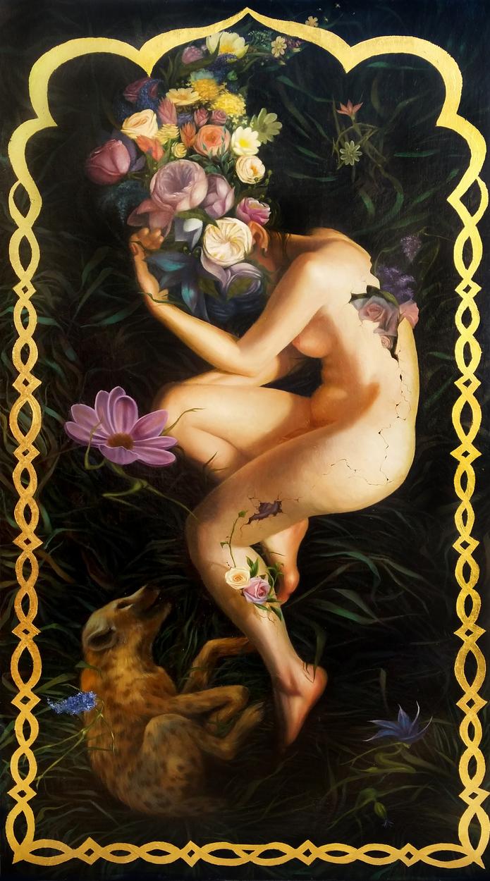 Hermaphrodite Sleeps Artwork by Rain Delmar